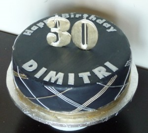 black gold silver cake1 300x268 Simple Birthday Cake for a Man