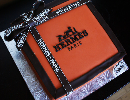 Hermes box cake2 Hermes Gift box Cake