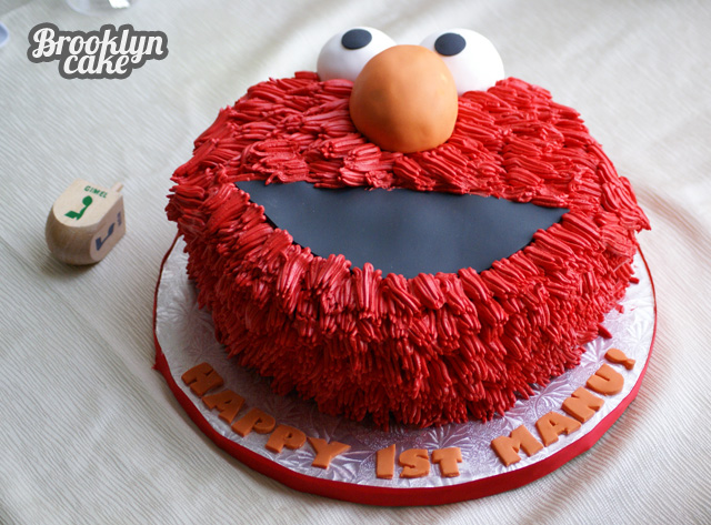 Manu birthday 009 Elmo Birthday Cake