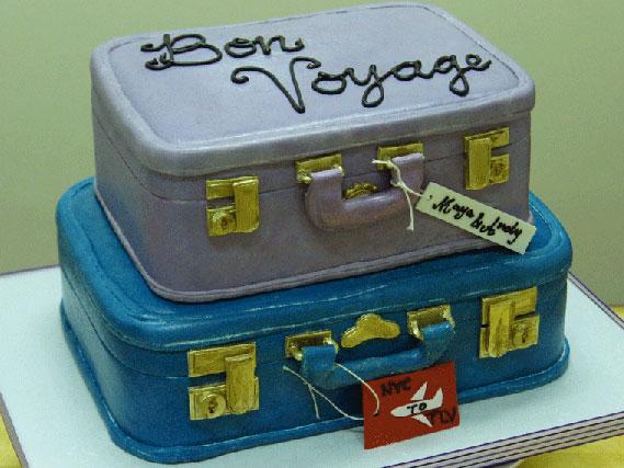 MayaAndy Tiered Suitcase Cake