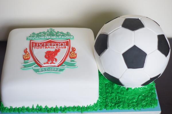 Soccer cake 1 Liverpool Soccer Ball Grooms cake