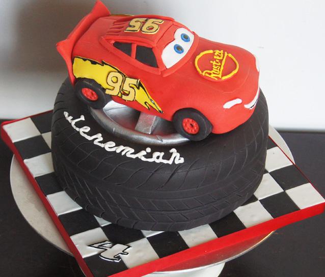 Cars Cake Lightning McQueen Tire Cake
