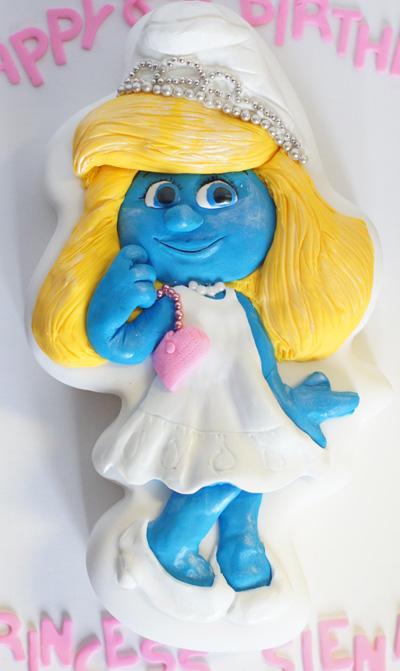 Smurfette Smurfette Cake