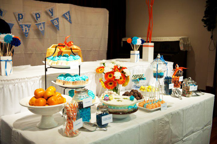 Table 1 Whale of a time Dessert Table