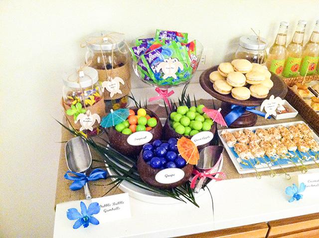 photo 5 Hawaiian Themed Dessert Table