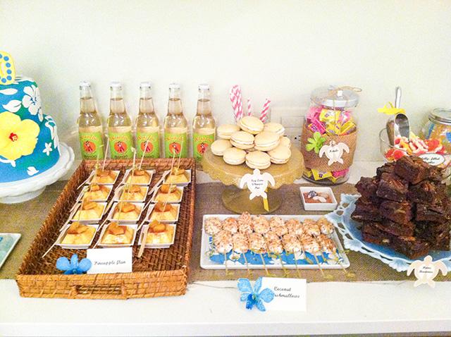photo 7 Hawaiian Themed Dessert Table